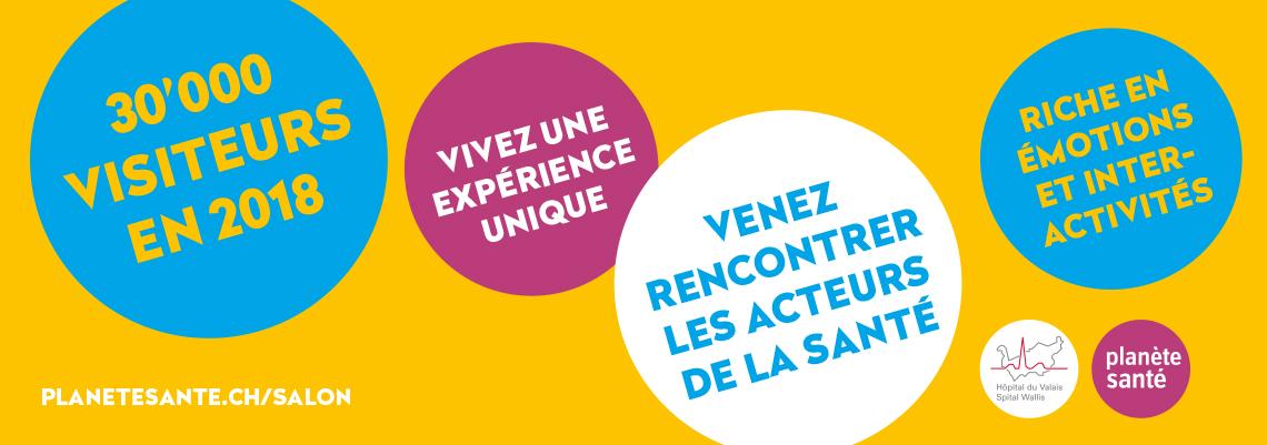 VENEZ AU SALON VALAISAN DE LA SANTÉ    à Martigny - 14 au 17 novembre